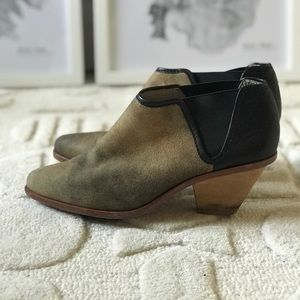 Matt Bernson leather and suede ankle booties